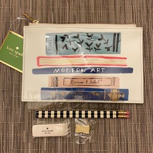 "♠️Kate Spade NY ""Stack of classics"" pencil pouch!"